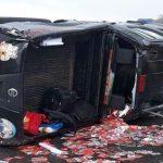 Deputado paraibano sofre acidente e capota carro em BR