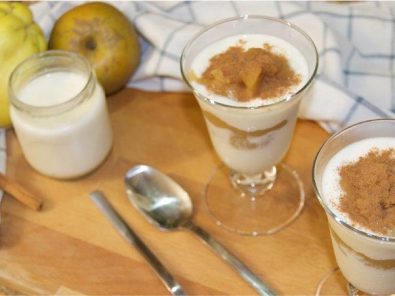 Sobremesa de Maçã com Iogurte